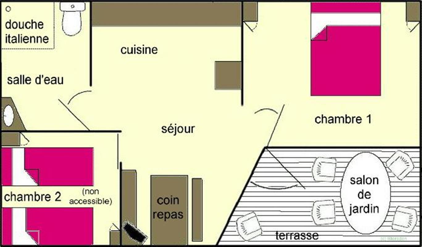 g te adapt aux personnes mobilit r duite chalet pmr location de chalets en c tes d 39 armor. Black Bedroom Furniture Sets. Home Design Ideas
